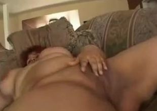 Fat BBW Latin chick GF with plump shaven cookie loves to fuck