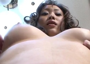 Ravishing three-some experience for nasty Hitomi Aizawa