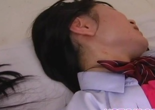 Mai Konishi and doll are fucked in mouths and ride wang