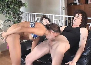 Barely legal cutie gets taught how to fuck like a nasty slut