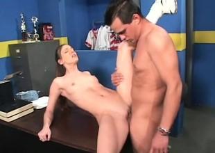 Brandi Lyons takes his large Latin shlong balls deep in her hot wazoo