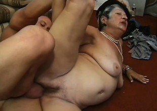 Horny chubby granny loves younger men who mount her like a stallion