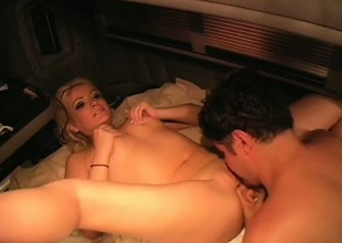 Gentle and blonde female knows what it takes to receive good big O