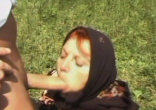 Mature European broad receives her ancient body plowed out in a field