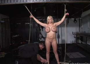 German slavegirl Melanie Moons electro bdsm and zapped
