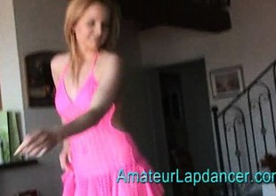 Breasty czech MILF gives lapdance and handjob to kinky guy