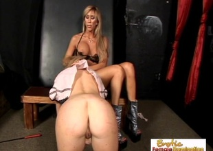 Perky Blond Slave Is Perfect For Mistress Morgan Ray