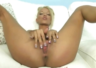 Sexy amateur masturbating and shows shaved pussy