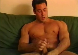 When this 22 minute scene starts off, you might think it's going to be a solo scene... and you'd be happy to see this dude masturbate even if it was!  But after one nice-looking hunk with a big cock finishes drying off from his shower, you'll soon realize, he'