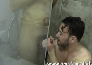 After shower anal sex with guys in the bathroom