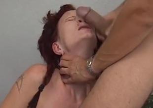 Dick slapping the slutty redhead
