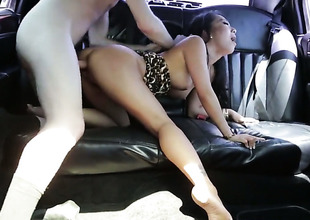 Brunette slut Asa Akira enjoys butt slam