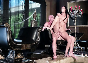 Johnny Sins gets his always hard love wand eaten by Amber Cox