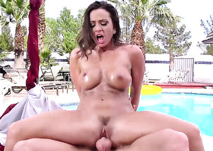Johnny Sins uses his inflexible schlong to make Abigail Mac happy