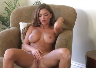 Gorgeous Niki Skyler strips to disclose her awesome boobs
