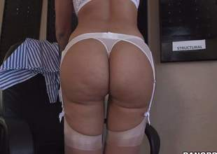 Hot bodied sexy MILF Mercedes Carrera in white underware is proud of her perfect ass. She pulls of fher panties and then spreads her buns for your viewing enjoyment