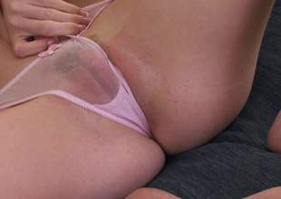 A very awesome masturbation instruction clip with incredible Emma Stone. She is wearing see through panties and she is going to tickle your imagination during the time that she tickles her shaved cookie