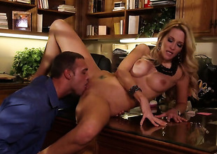 Jessica drake and hot dude are so fucking horny in this dick sucking action