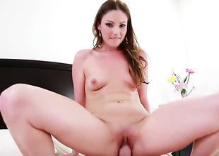 Oriental Samantha Ryan gets impaled on Jordan Ashs meat stick