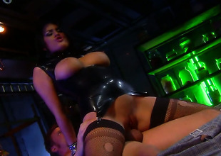 Eva Angelina getting satisfaction with guys schlong in her horny. hot face hole