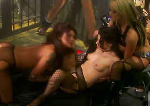 Stormy Daniels having unthinkable lesbian sex with Nikita Denise
