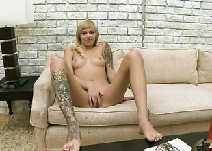 Blond Emma Mae can not wait to be fucked by her horny guy