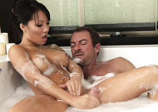 Asa Akira makes dudes guy meat harder with her skillful hands