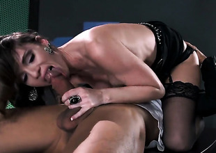 Jennifer Dark with biggest jugs fulfills her sexual needs with Keni Styless stiff fuck stick in her love box