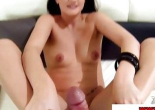 Foot fetish whore Carla Mai gets feet screwed