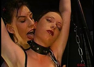 Two German sleazy bitches get blowbanged and jizzed on