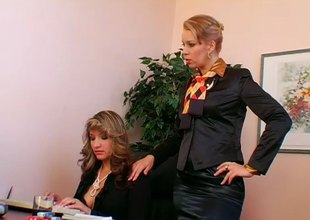 Submissive thrall secretary gets used by her bossy Headmistress