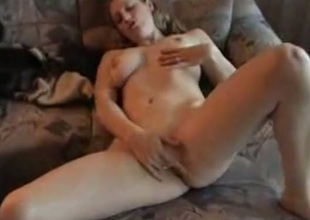 Naughty playgirl strips in nature's garb and asks her lover to fuck her pierced fuckhole