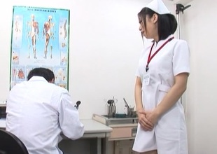 Lustful Japanese nurse with fine arse acquires deep pussy fucking