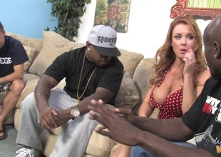 Janet Mason gets DP in interracial three-some