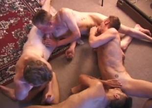 Foursome Nipple Biting Sex Orgy