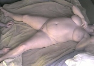 Chunky bosomy cougar wife teased and licked on hidden cam