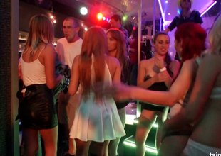 Lesbians in intense heat do it erotically at a club party cum lesbian orgy