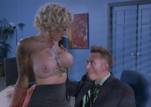 Massive tits office slut drilled until exhaustion