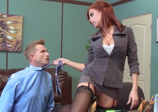 Office anal experience for hot Britney Amber