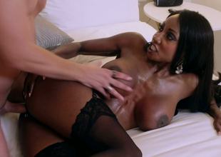 Nasty black bombshell Diamond Jackson gets drilled hard