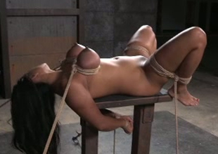 Full bodied porn slut Maxine X is toy fucked intensively in hardcore BDSM porn episode