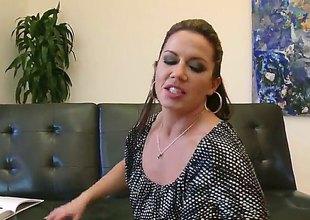 Keiran Lee gets pleasure from fucking Brunette Inari Vachs in her hawt throat before anal fun