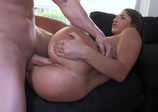 Flexible young lady Abella Danger riding Jmac`s terrific pecker