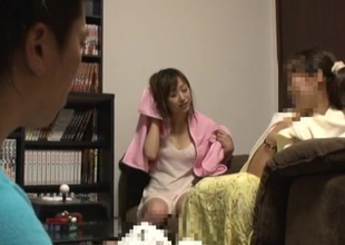 Desirable Japanese AV Model gets facial after hot blowjob