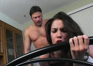 Trinity's sighs of delight inspire her man to screw her a-hole even harder