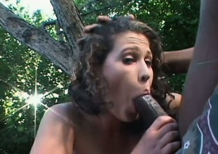 Bianca relishes every wank of a huge dark dick in her hungry ass