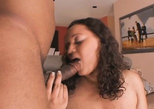 Gigantic black babe with all dat ass gets slammed down to the balls