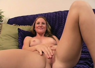 Sensual young blond with small tits sucks and fucks a black rod in POV