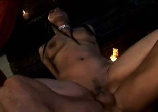 A randy latina chick deserves each second of this pussy drilling