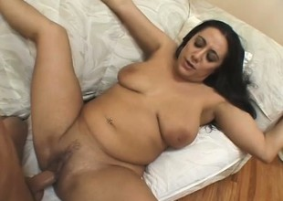 Big chunky girl can't wait to get properly drilled by a prick